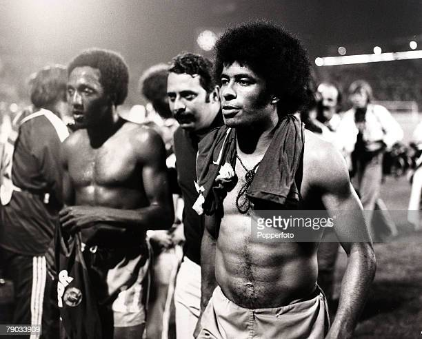 Sport Football 1974 World Cup Finals Hannover West Germany 26th June 1974 Brazil 1 v East Germany 0 Brazil's Jairzinho leaves the pitch after the game