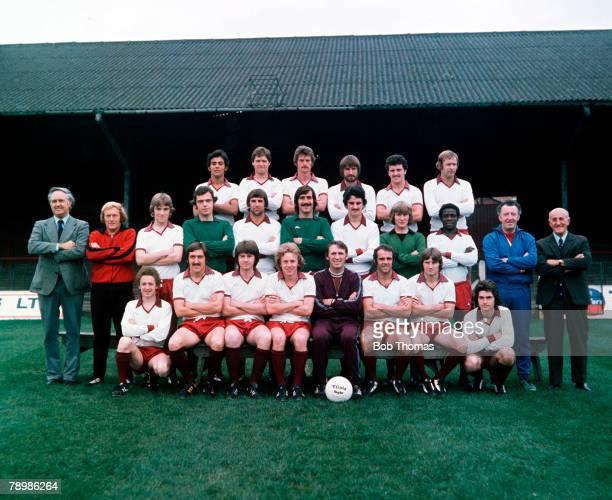 Sport Football 19761977 Season Northampton Town pose for a preseason group photograph Back Row LR Paul Stratford David Carlton Don Martin John...