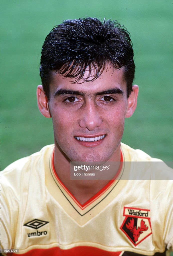Sport. Football. 1980's. Malcolm Allen of Watford. : News Photo
