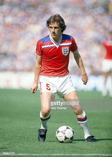 Sport Football 1982 World Cup Finals Bilbao Spain 16th June England 3 v France 1 England's Steve Coppell Steve Coppell won 42 England international...