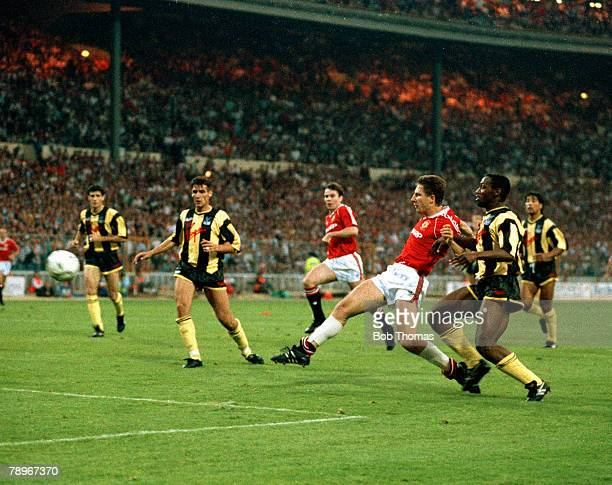 Sport Football 1990 FA Cup Final Replay Wembley 17th May Manchester United 1 v Crystal Palace 0 Manchester United's Lee Martin scores the winning...