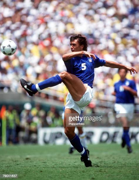Sport Football 1994 World Cup Final Pasadena USA 17th July Brazil 0 v Italy 0 Italy's Paolo Maldini