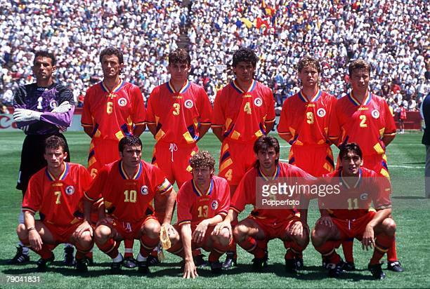 Sport Football 1994 World Cup Quarter Final Stanford USA 10th July Sweden v Romania Sweden team group before the match