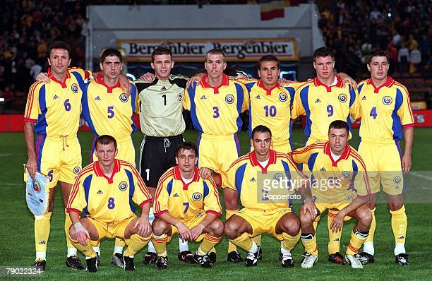 Sport Football 2002 World Cup Qualifier Bucharest 6th October 2001 Group 8 Romania 1 v Georgia 1 The Romania team line up together for a group...