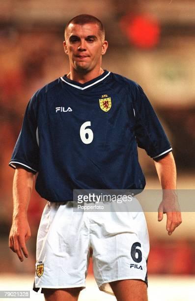 Sport, Football, 2002 World Cup Qualifier, Group 6, Brussels, 5th September 2001, Belgium 2 v Scotland 0, Scotland's Dominic Matteo
