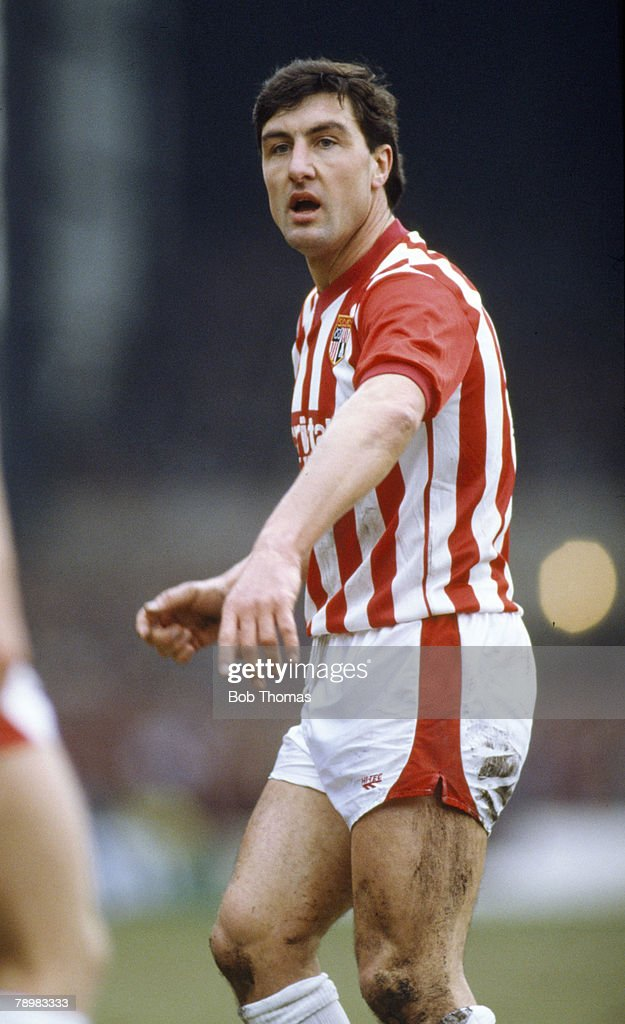 Sport. Football. 21st February 1987. FA Cup 5th Round. Brian Talbot, Stoke City, (the former Ipswich Town and Arsenal star) : News Photo