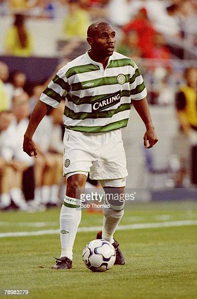 Sport Football 22nd July 2003 Champions World Series 2003 Seahawks Stadium Seattle USA Manchester United 4 v Celtic 0 Didier Agathe of Celtic Photo...