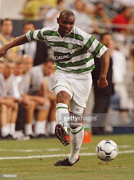 Sport Football 22nd July 2003 Champions World Series 2003 Seahawks Stadium Seattle USA Manchester United 4 v Celtic 0 Celtic's Didier Agathe Photo...