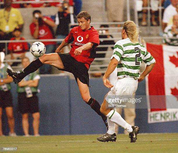 Sport Football 22nd July 2003 Champions World Series 2003 Seahawks Stadium Seattle USA Manchester United 4 v Celtic 0 Manchester United's Ole Gunnar...