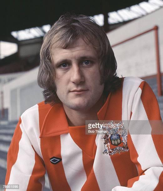 Sport Football 26th September 1973 Portrait of Len Badger of Sheffield United