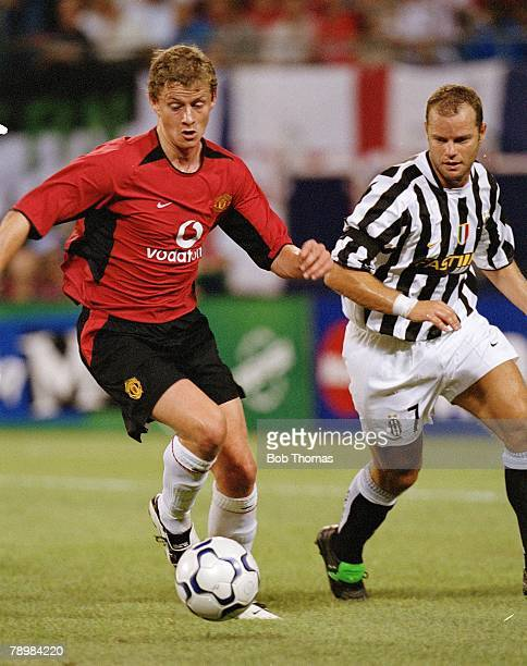 Sport Football 31st July 2003 Champions World Series 2003 New York Giants Stadium East Rutherford New Jersey USA Manchester United 4 v Juventus 1 Ole...