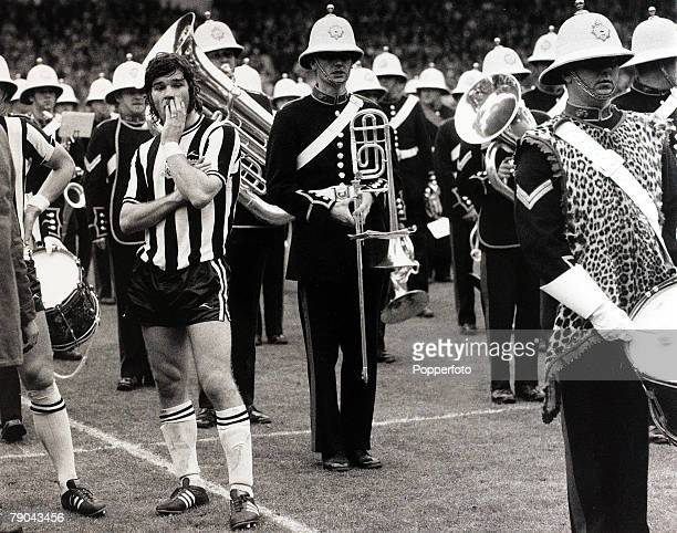 Sport Football 5th May 1974 FA Cup Final Wembley London England Liverpool 3 v Newcastle United 0 Newcastle United striker Malcolm MacDonald makes a...