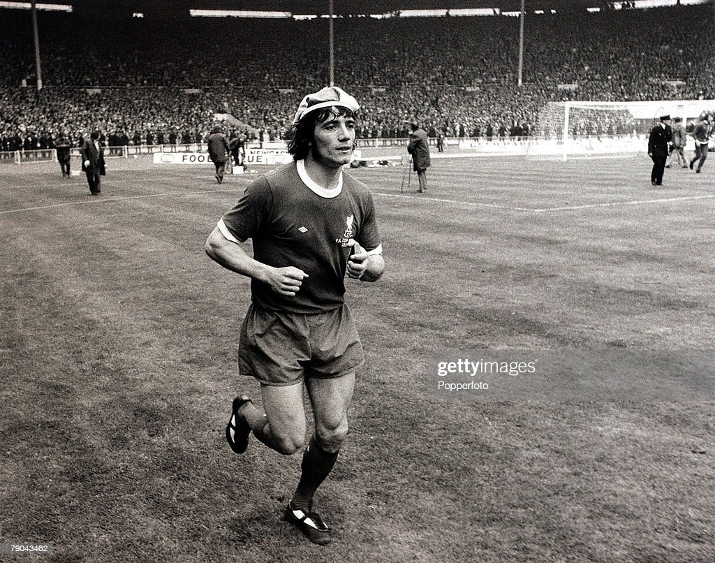 Sport. Football. 5th May 1974. F.A.Cup Final. Wembley, London, England. Liverpool 3 v Newcastle United 0. Liverpool's Kevin Keegan does a solitary lap of honour after the victory. : News Photo