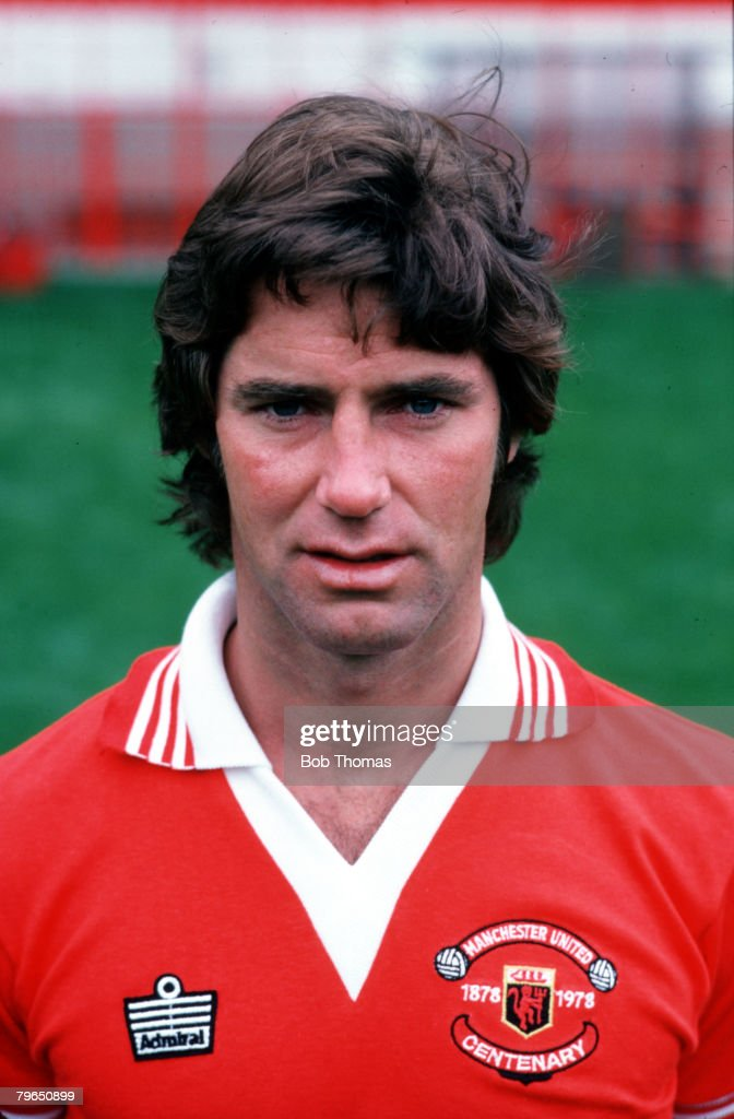 Sport, Football, 1978, A portrait of Manchester United's Martin Buchan : News Photo