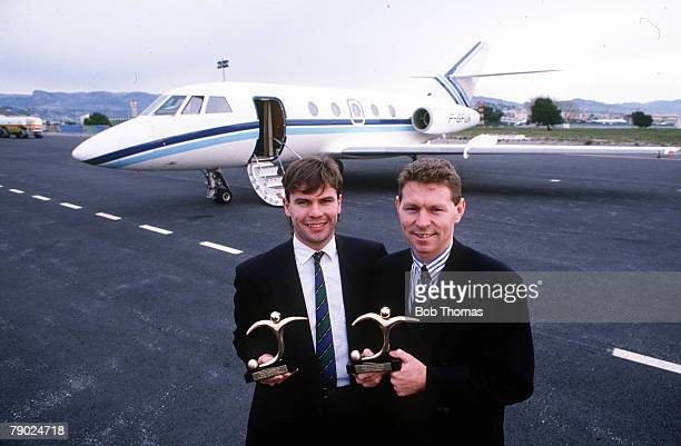 Sport Football Adidas Golden Shoe Awards Monte Carlo France 21st January 1988 Scottish international Brian McClair the leading goalscorer in Scotland...