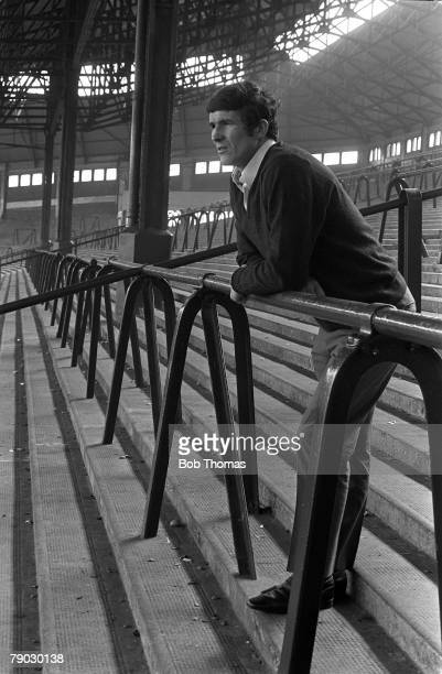 Sport Football Anfield England Circa 1970 Liverpool FC captain Ron Yeats is pictured on the famous Anfield Kop