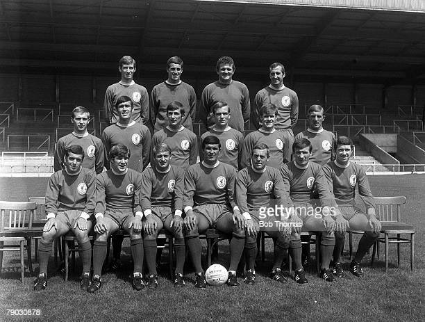 Sport Football Anfield England July 1968 The Liverpool FC first team squad for the 196869 season line up together for a group photograph Back Row LR...