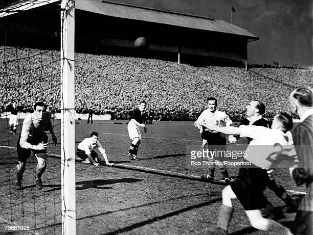 Sport Football April 1946 Victory International Hampden Park Glasgow Scotland1 v England 0 A record wartime attendance of 139468 watched this match...