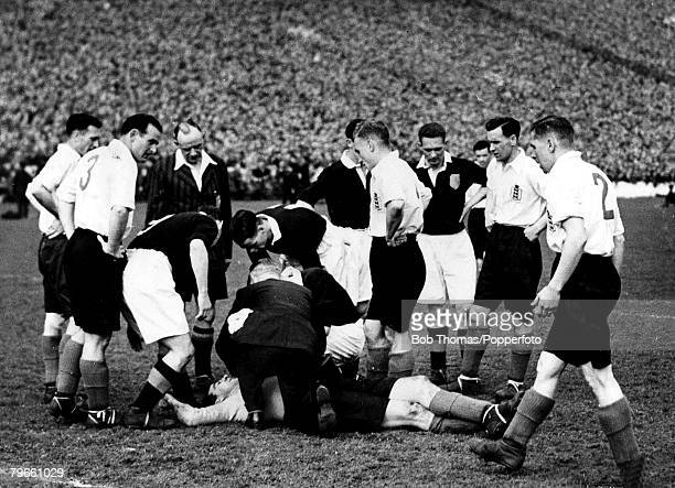 Sport Football April 1946 Victory International Hampden Park Glasgow Scotland 1 v England 0 A record wartime attendance of 139468 watched this match...