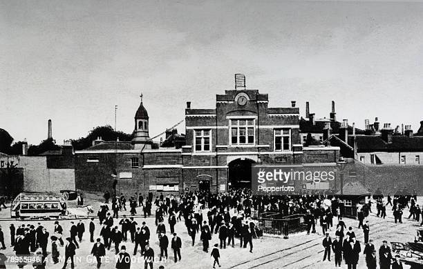 circa 1912 The main gate at Woolwich