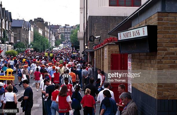 May 1997 Fans outside Arsenal's Highbury Stadium on matchday