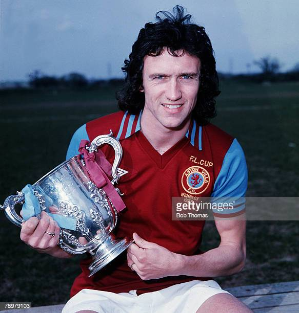 Sport Football Aston Villa's John Gidman with the League Cup which they won in 1977