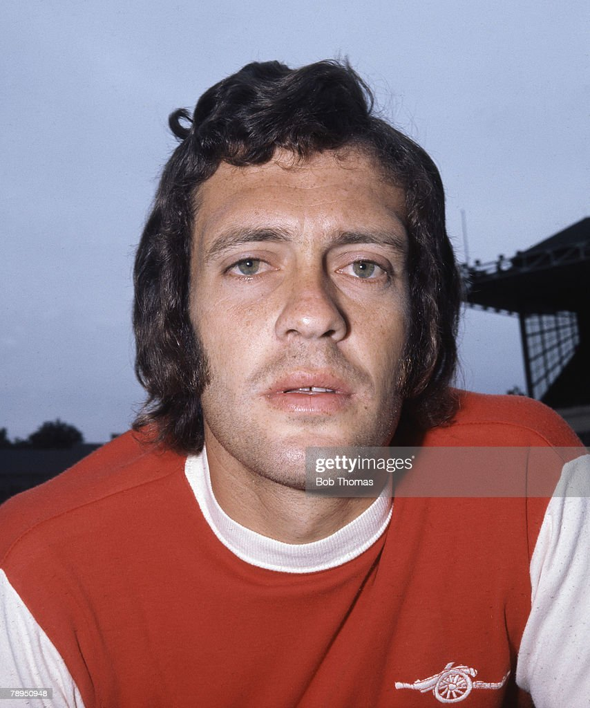 Sport. Football. August 1973. Portrait of Jeff Blockley of Arsenal. : News Photo