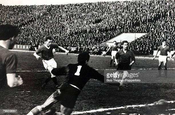 Sport Football Belgrade Yugoslavia 5th February 1958 European Cup Quarter Final Second Leg Red Star Belgrade 3 v Manchester United 3 Manchester...