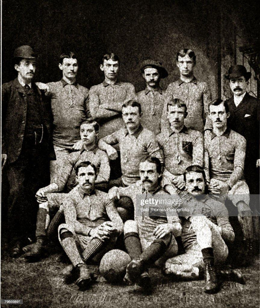 Sport, Football, Blackburn Olympic, English F,A,Cup winners 1883 beating Old Etonians 2-1 a,e,t, Blackburn Olympic, back row l-r, W,Bramham, (Secretary), G,Wilson T,Dewhurst, T,Hacking, J,T,Ward, A,Astley, (Treasurer),Middle row, l-r, J,Costley, J,Hunter, J,Yates, W,Astley, Front row, l-r, T,Gibson, A,Warburton, (captain), A,Matthews