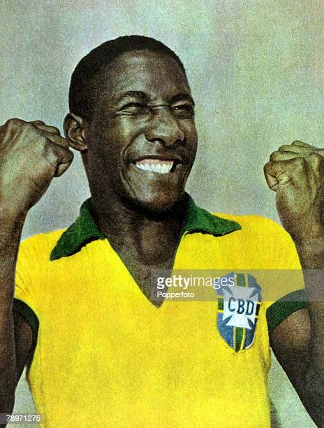 Sport Football Brazil defender Djalma Santos a stalwart of many Brazilian international sides who played in the 1954 1962 and 1966 Brazil World Cup...