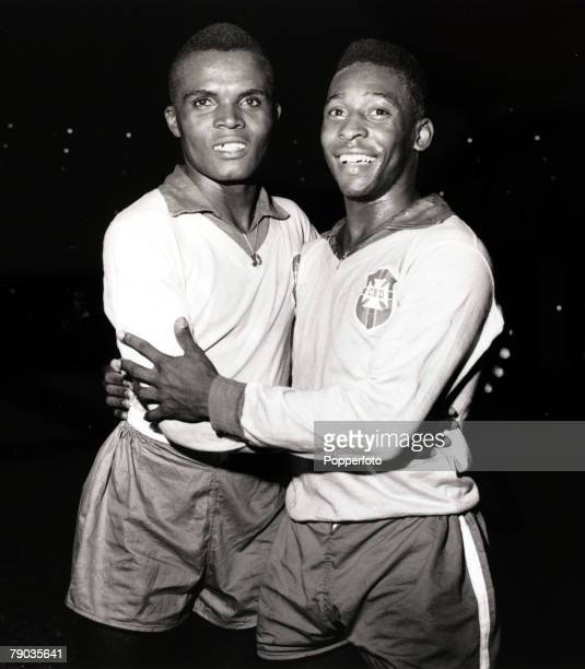 Sport Football Brazil stars Zozimo and Pele Pele was perhaps the most famous footballer of all time and featured in 4 World Cupsforced out of the...