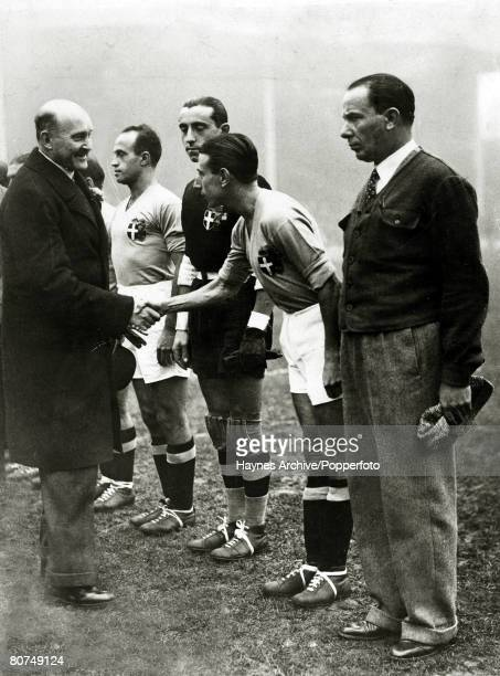 14th November 1934 The Duke of Connaught meets the Italian players before the International match which saw England beat Italy 32 at Highbury