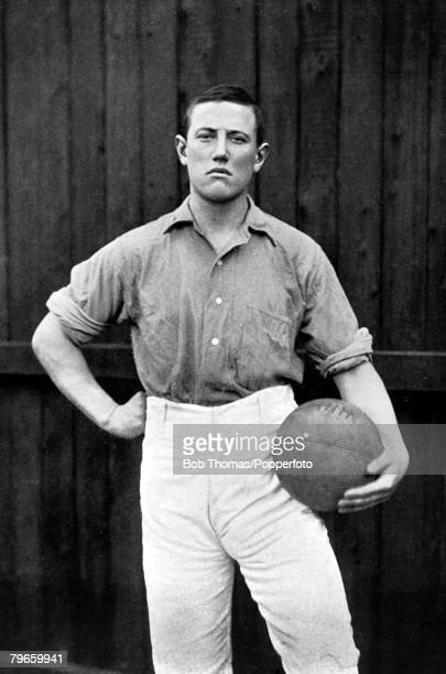 Sport Football circa 1895 CParry who played for Everton and Wales A fine full back kicking well with either foot he won 13 caps for Wales