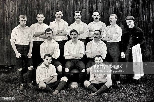 Sport Football circa 1895 Preston North End one of the top teams of the early 1890's and League runnersup 3 times 18901891 18911892 and 18921893