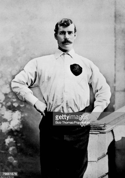 Sport Football circa 1896 Portrait of James Trainer goalkeeper for Preston North End winners of the League Championship two years running Previously...