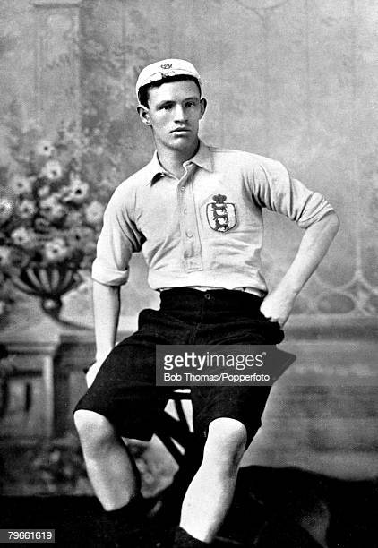 Sport Football circa 1896 Portrait of Rab Howell Sheffield United FC and England player