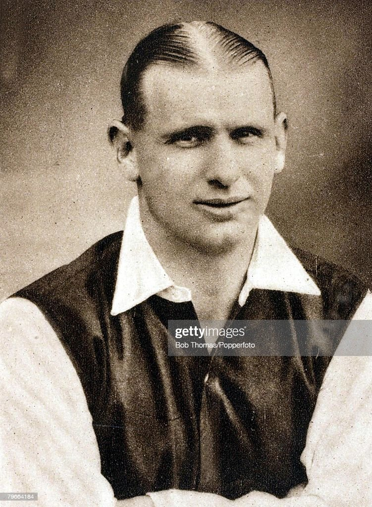 Sport, Football, Circa 1937, Cliff Bastin, Arsenal and England, a winner of League Championship medals, FA, Cup winners medals and England caps : News Photo