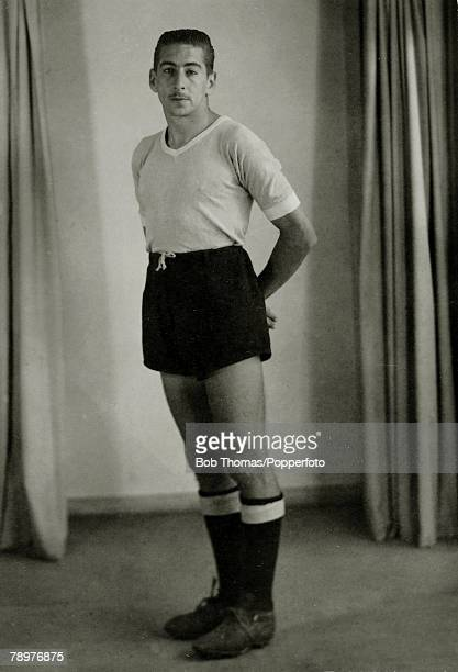 Sport Football circa 1950 Alcides Edgardo Ghiggia Uruguay He scored the goal that won the 1950 World Cup when Uruguay defeated Brazil in the Maracana...
