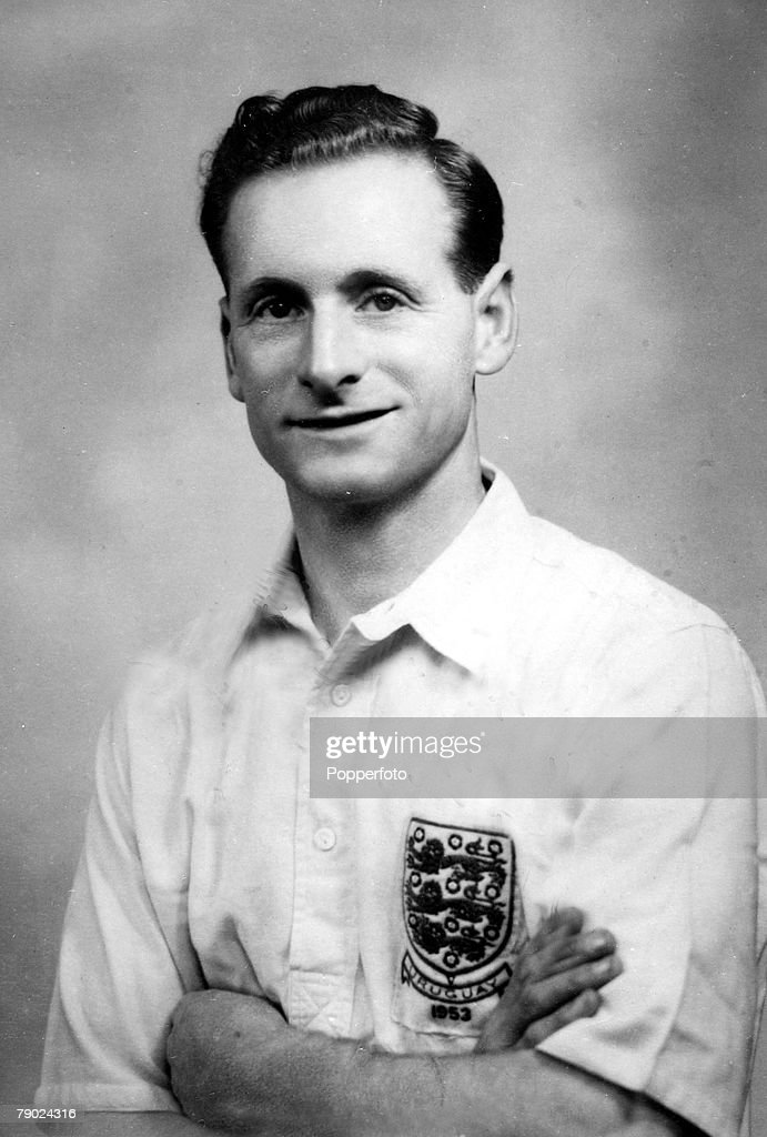 Sport. Football. circa 1950. Tom Finney, (now Sir Tom Finney) Preston North End and England. One of the best attacking wingers of his era, he won 76 caps for England. : News Photo