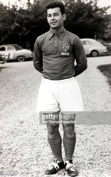 Sport Football Circa 1958 French international Just Fontaine who scored a record 13 goals for France in the 1958 World Cup Finals