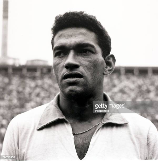 Sport Football circa 1962 Brazil star Garrincha who played 60 times for Brazil and with he and Pele in the team the national side never lost his...