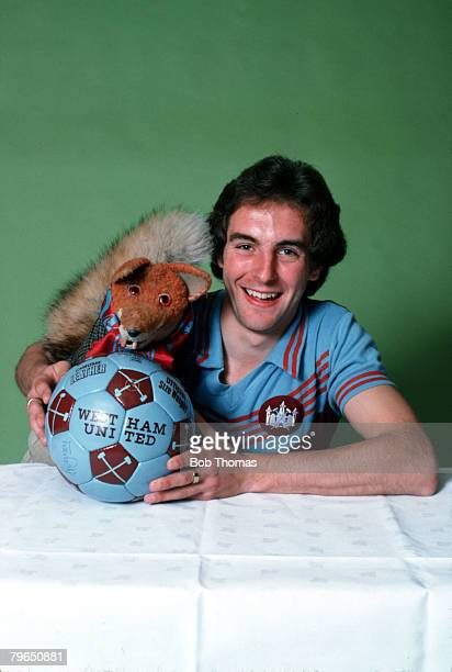 Sport Football Circa 1970's West Ham United's Paul Brush is pictured with his namesake puppet Basil Brush