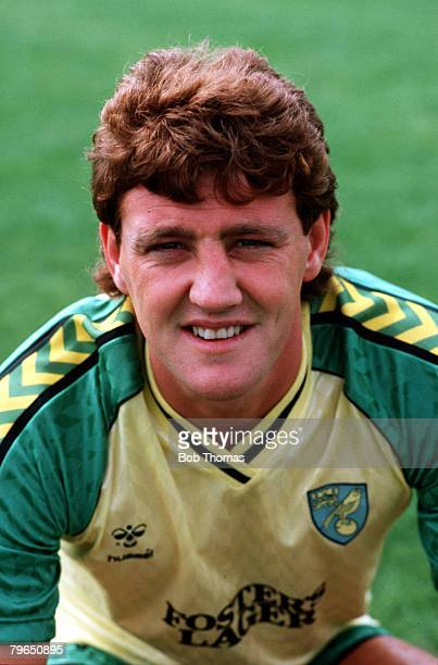 Sport Football Circa 1980's A portrait of Norwich City's Steve Bruce