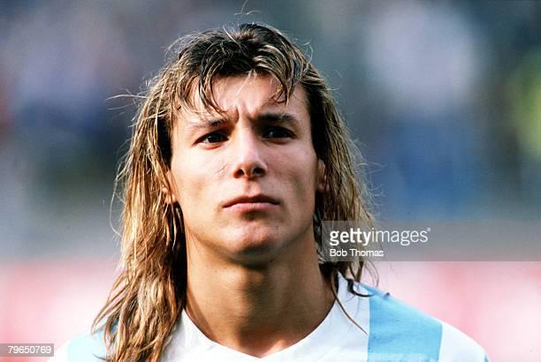 Sport Football Circa 1990's A portrait of Argentina's Claudio Caniggia
