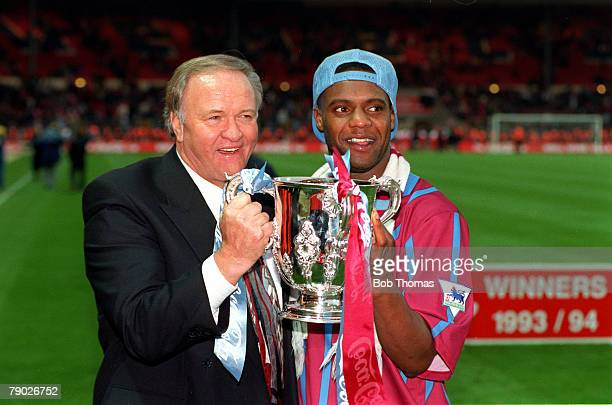 Sport Football CocaCola Cup Final Wembley London England 27th March 1994 Aston Villa 3 v Manchester United 1 Aston Villa's Dalian Atkinson celebrates...