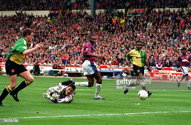Sport Football CocaCola Cup Final Wembley London England 27th March 1994 Aston Villa 3 v Manchester United 1 Aston Villa's Dalian Atkinson scores his...