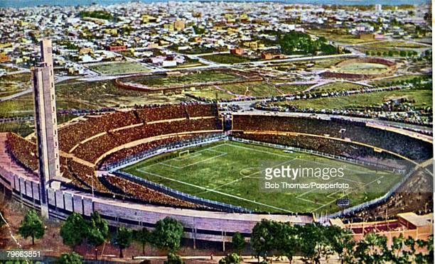 Sport Football Colour postcard Estadio Centenario Montevideo Uruguay the venue for the the first World Cup Final in 1930
