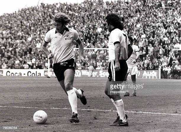 Sport Football Craven Cottage London England League Division Two 4th September 1976 Fulham v Bristol Rovers Fulham's Rodney Marsh moves away with the...