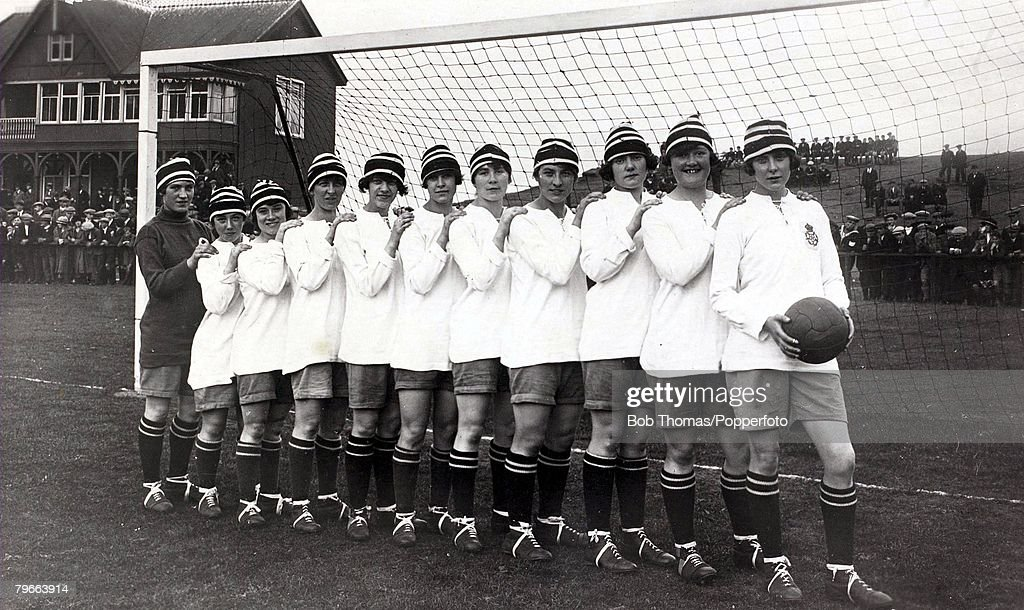 Sport, Football, Dick Kerr International Ladies A,F,C,, undefeated British champions in 1920-1921 : News Photo