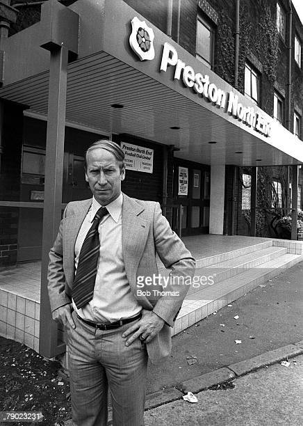 Sport Football England 21st August 1975 Preston North End Manager Bobby Charlton is pictured at Deepdale